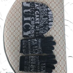 Juicy couture hat and glove set